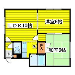 北海道札幌市東区北八条東5丁目の賃貸アパートの間取り
