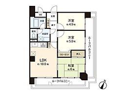 薬院ハウス[5階]の間取り