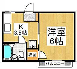 TAMAKOハイツC[1階]の間取り