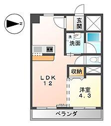 愛知県名古屋市中村区森末町1丁目の賃貸マンションの間取り
