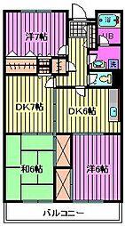 ロイヤルシティー[4階]の間取り