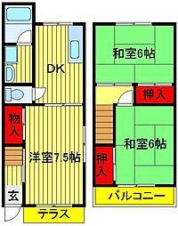 ガーデンテラスK・N[107号室]の間取り