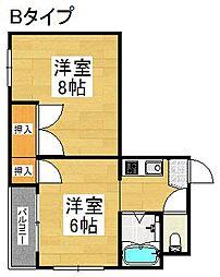 セラ北加賀屋A棟[5階]の間取り