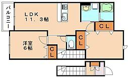 ベルフィオーレ[2階]の間取り