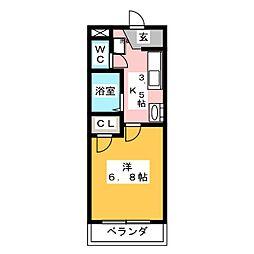 マイキャッスル2[1階]の間取り