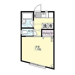 ラ・シャンス生田[201号室]の間取り
