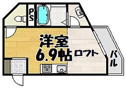 吉永ビル鼓ヶ滝駅前[305号室]の間取り