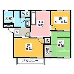 イッツエステート D棟[2階]の間取り