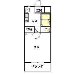 エスポワールマンション[310号室]の間取り