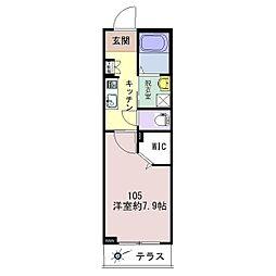 仮称)松波シャーメゾン[105号室]の間取り