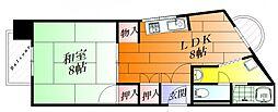 サワダビル(千里丘東3)[4階]の間取り
