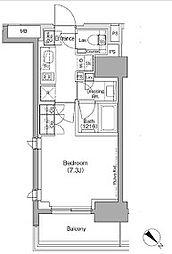 JR京葉線 越中島駅 徒歩12分の賃貸マンション 10階1Kの間取り