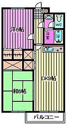 ディアコート川口[3階]の間取り