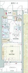 都営三田線 内幸町駅 徒歩7分の賃貸マンション 5階1DKの間取り