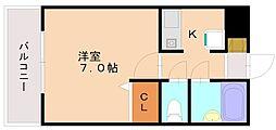 ビュークレスト三宅[1階]の間取り