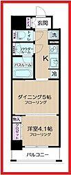 東京都墨田区東駒形4丁目の賃貸マンションの間取り