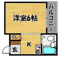 大阪府大阪市東淀川区下新庄5丁目の賃貸マンションの間取り