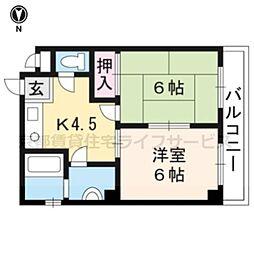 アゼリアマンション[401号室]の間取り