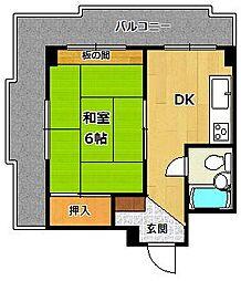 塚口KRマンション[3階]の間取り