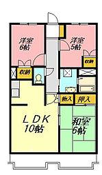 平塚ハイツ[2階]の間取り