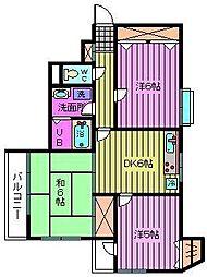 シャンブル・ドゥ・ミヤザキ-1[5階]の間取り