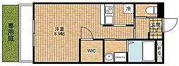 C&D apartment[104号室]の間取り