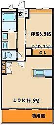 マウントック・レオ[1階]の間取り