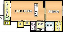 パルティール C棟[1階]の間取り