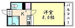 安田ハイツ[305号室]の間取り