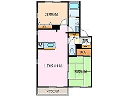 アーバン・スクエア B棟[1階]の間取り
