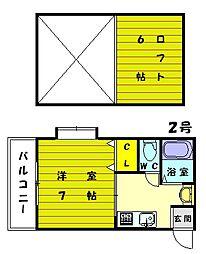 フーガアネックス2号館[2階]の間取り