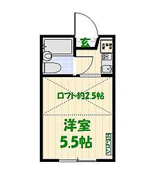 東京都葛飾区東金町4丁目の賃貸アパートの間取り