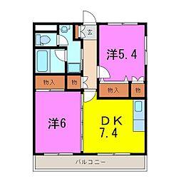緑区 サンライト A[2階]の間取り