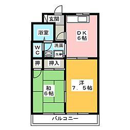 マンションはなき2[3階]の間取り