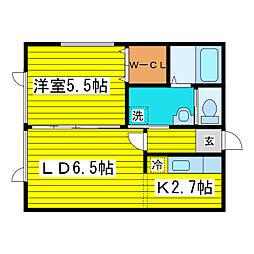 北海道札幌市東区北七条東6丁目の賃貸アパートの間取り
