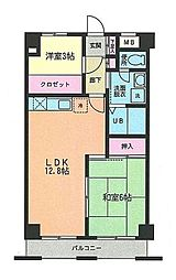 メイプル7(メイプルセブン)[3階]の間取り