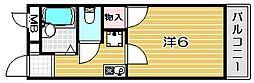 大阪府高槻市高槻町の賃貸マンションの間取り