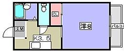 グランドゥール大芝[1階]の間取り