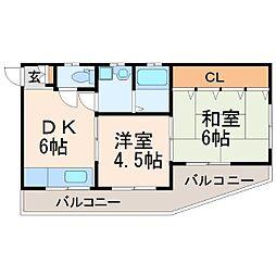 阪下マンション[2階]の間取り