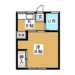 菅野荘[1階]の間取り