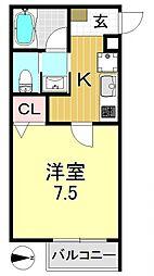 シャンブル石戸[2階]の間取り