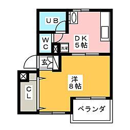 菱電アパート1号棟[2階]の間取り