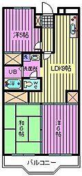 埼玉県さいたま市中央区本町西4丁目の賃貸マンションの間取り