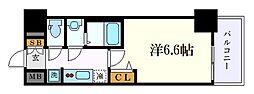 名古屋市営東山線 亀島駅 徒歩3分の賃貸マンション 6階1Kの間取り