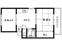 甲南山本ビル[302号室]の間取り