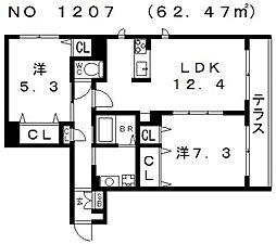 Sha Maison LUCE (シャーメゾンルーチェ)[1階]の間取り