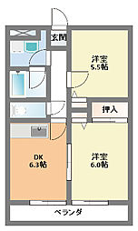 エトワール相模台[4階]の間取り