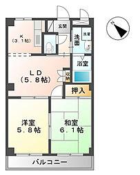 千葉県市原市ちはら台東3丁目の賃貸アパートの間取り