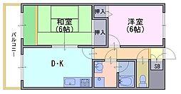 アロースウィステリア[2階]の間取り