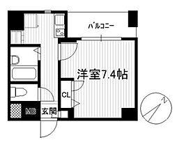 東京都文京区大塚6丁目の賃貸マンションの間取り